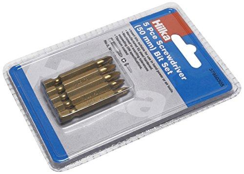 Hilka 50mm 37950305 Titanium Coated Pozi Screwdriver Bit Set 50 mm