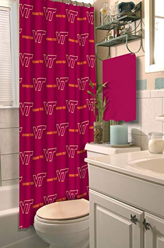 Virginia Tech Hokies Shower Curtain, 72