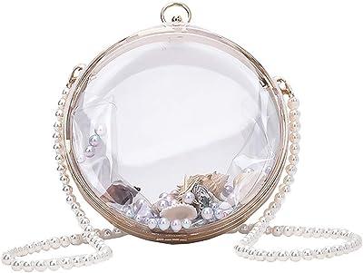 VALICLUD Transparente Crossbody-Tasche aus Acryl, Clutch, Abendtasche, Handtasche, Kette, Geldbörse für Damen
