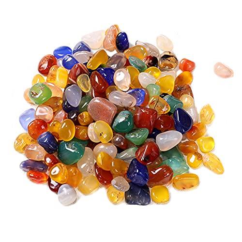 200g Colores Mezclados Piedra Ágata Piedras Preciosas Cristales Caídos Piedras Preciosas Ágata Pulida Pequeñas Piedras Preciosas Mezcla Pequeñas Piedras Caídas Mixtas Piedras Curativas Natural 9-12mm