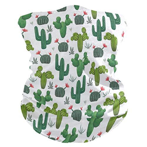 Funnyy - Pasamontañas para el cuello con forma de cactus y cactus, pañuelo para la cabeza, sin costuras, pasamontañas, protector para la cara, pañuelo de tubo mágico, multifuncional, para mujeres y hombres, deportes al aire libre