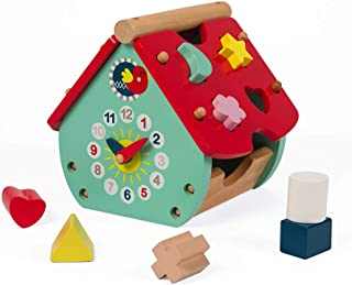 Janod J08008 Baby Forest House Shape Sorter Game