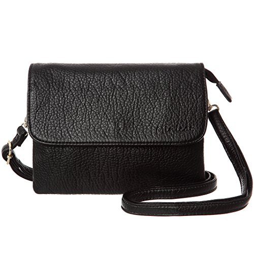 MINICAT Crossbody Purse Bulit in Wallet Small Crossbody Bags Pocketbooks for Women(Black,Small)