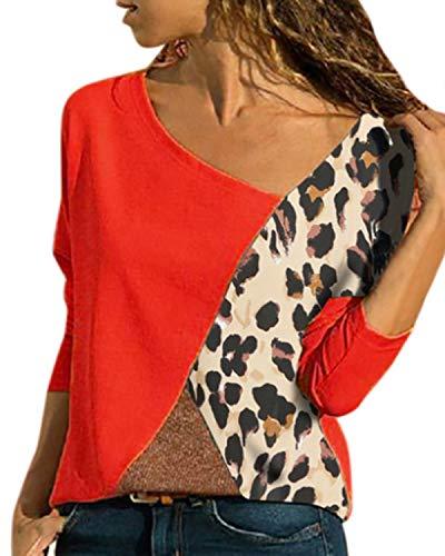 YOINS Sexig axelfri topp damer T-shirt långärmad tröja damer pullover polotröja långärmad randig tröja