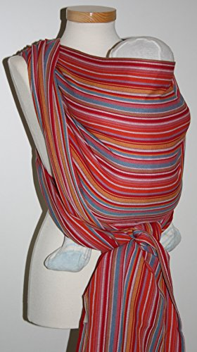 Storchenwiege Ring Sling 100% Woven Cotton Baby Carrier One Size Fits All From Germany (Lilly)