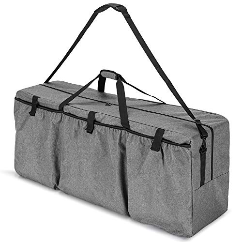 Trunab Large Storage Bags with Zipper and Handles Carrying Bag for Giant 4 in A Row Connect Game, Sport Duffel Bag with Extra Elastic-top Pockets, Gray, BAG ONLY