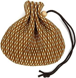 印傳屋(INDEN-YA) 印伝 燻(ふすべ) ミニ巾着袋 7108