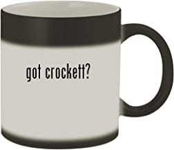 got crockett? - Ceramic Matte Black Color Changing Mug, Matte Black