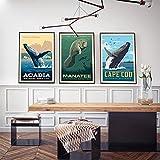 Nationalpark Whale Watching Poster und Apollo Beach Florida