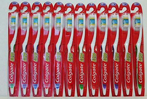 12 Pack Colgate Toothbrush Firm Hard Full Head Extra Clean New