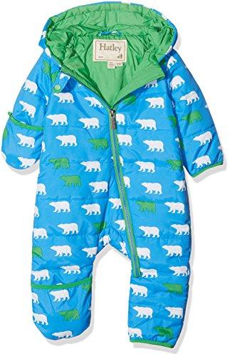 Hatley Mini Winter Bundler Combinaison de Ski, Bleu (Roaming Polar Bears 400), 6-9 Mois Bébé garçon