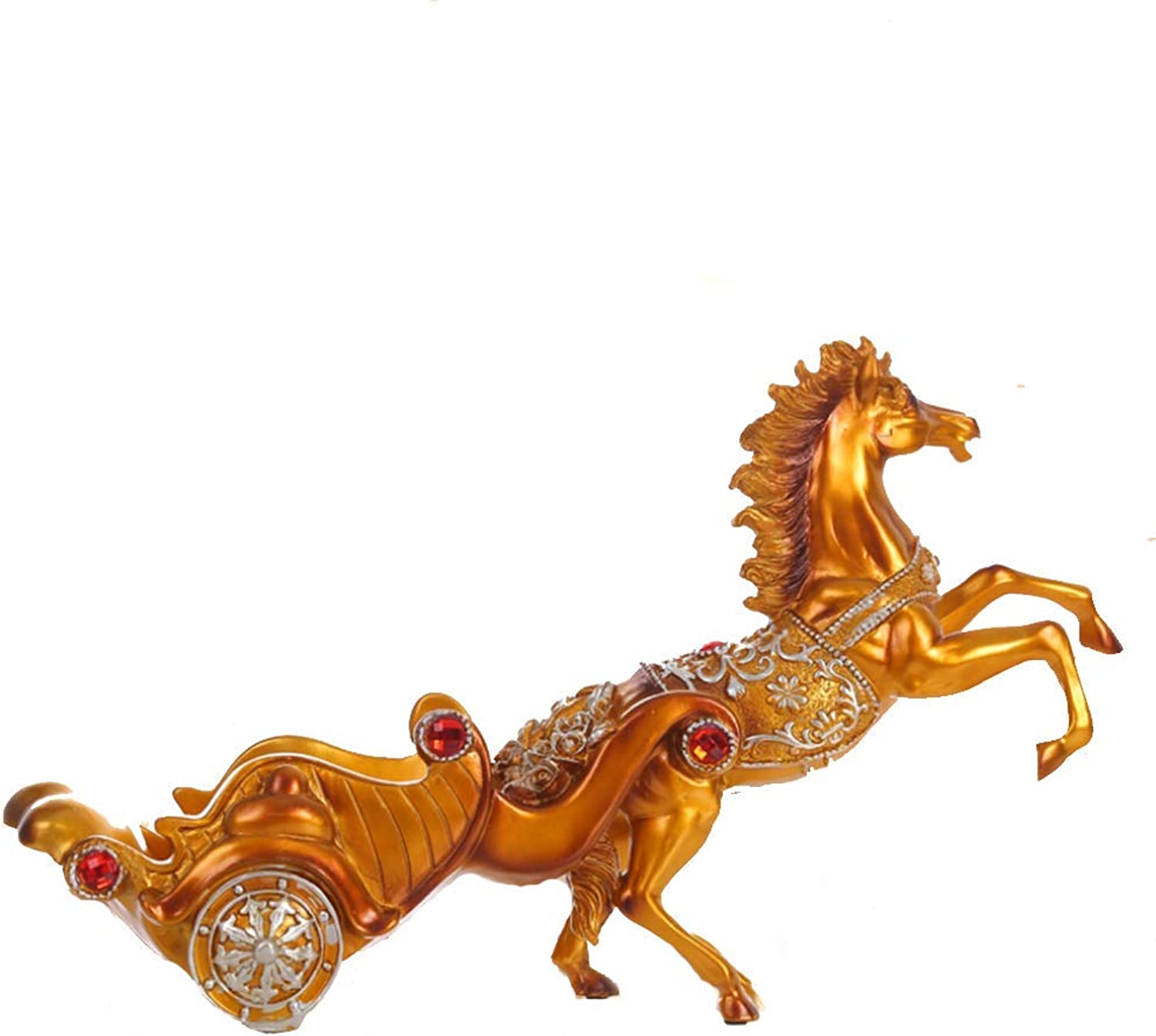 Wine Rack European Style Horse Car Decoration Resin Crafts Business Gifts