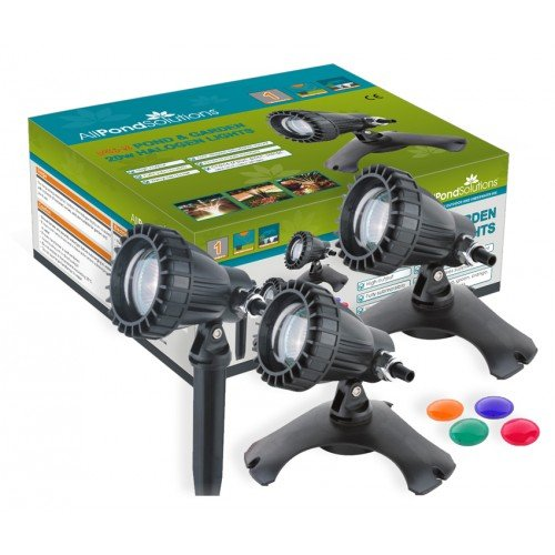 All Pond Solutions Underwater Pond and Garden Lights with Colour Lenses, Set of 3