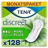 Tena Discreet Mini Plus, Monatspaket (8 Packungen je 16 Einlagen) -
