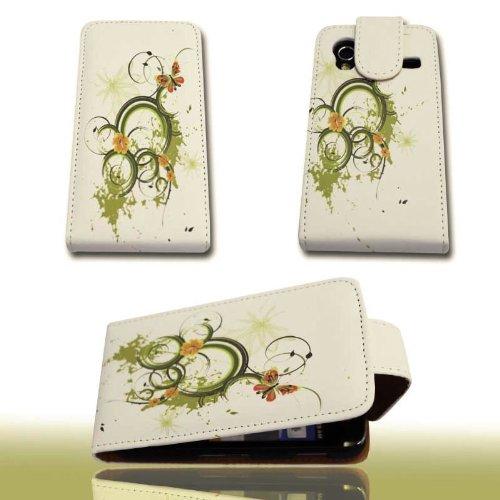 Handy Tasche Flip Style - Design No.2 - Cover Hülle Hülle kompatibel mit Samsung S5830 Galaxy Ace