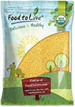 Organic Hulled Millet, 5 Pounds — Whole Grain Seeds, Non-GMO, Kosher, Raw, Bulk, Product of the USA
