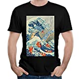 ILONSE Men's Gyarados Fish T Shirts Black