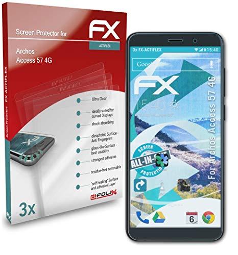 atFolix Schutzfolie kompatibel mit Archos Access 57 4G Folie, ultraklare & Flexible FX Bildschirmschutzfolie (3X)