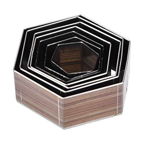 Troquel De Corte De Cuero, 7 Piezas 20-50 Mm En Forma Hexagonal De Acero De Alta Velocidad A08 Molde De Corte Para Manualidades De Cuero Troquel PortáTil Juego De Troqueles De PerforacióN De Cuero Par