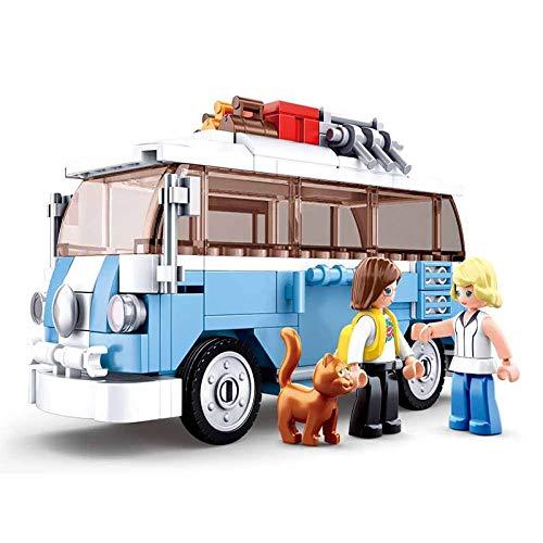 Bloques de construcción City T1 Van Bus Camper Kit De Modelo De Coche Bloques De Construcción Creator Friends Figuras Moc Ladrillos Speed Champions Juguetes Clásicos para Niños
