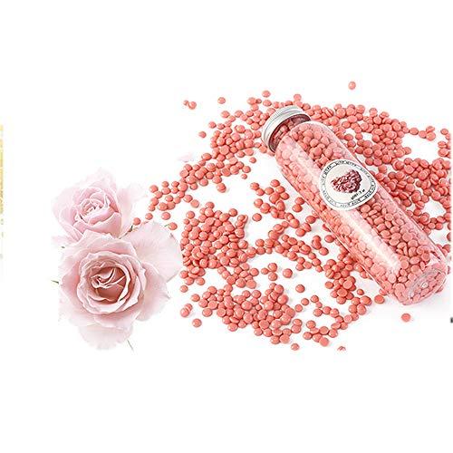 Les Haricots de Cire -pour Indolore Cire Visage Sourcils Corps Soudure pour Underarm Leg Bikini Hard Wax Bean avec 10 saveur différente,Rose