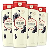 Old Spice Body Wash for Men, Exfoliate with Charcoal Scent, 16 Fl Oz (Pack of 4)