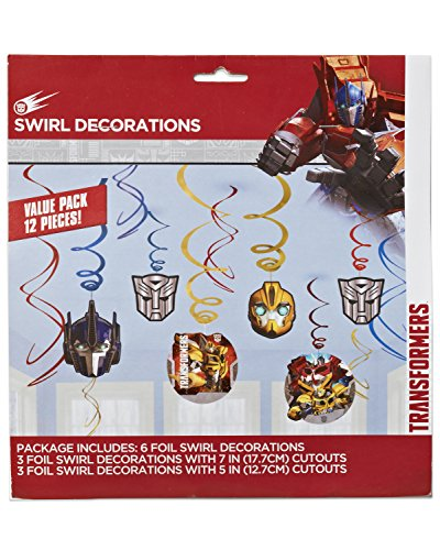 Transformers Value Pack Foil Swirl Decorations, Party Favor