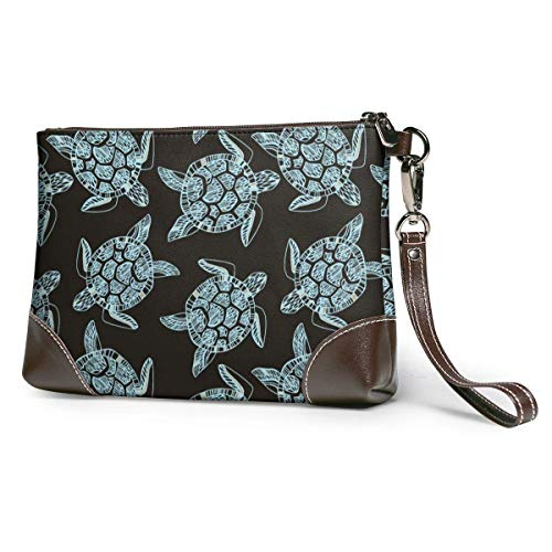 GLGFashion Sac à main en cuir pour femme Sea Turtles Travel Makeup Bags Cosmetic Case Organizer for Women