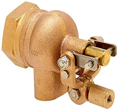 """Robert Manufacturing R605T-5 High Turbo Series Bob Red Brass Float Valve Assembly with Stem, 2"""" NPT Female Inlet x Free Flow Outlet, 115 psi Pressure by Control Devices"""