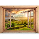 murando - 3D WANDILLUSION 140x100 cm Wandbild - Fototapete