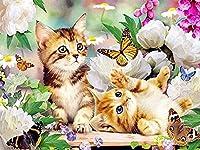 大人のためのジグソーパズル1000ピース-子猫猫蝶動物-キッズパズルおもちゃ教育パズルジグソー