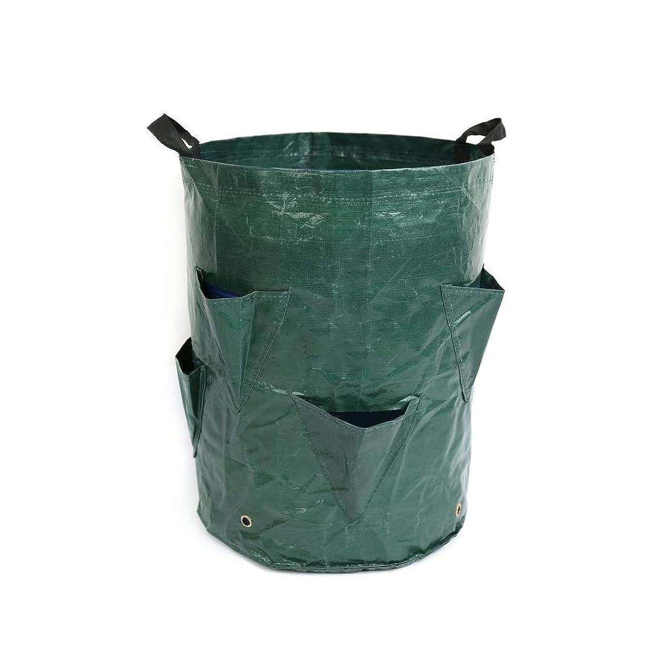 癌クルークリケット自立式 ガーデンバケツ 再利用可能な庭の落葉貯蔵袋、ガーデンガーデニングバレル、美しい植付袋、PPガーデンごみ袋。 大容量