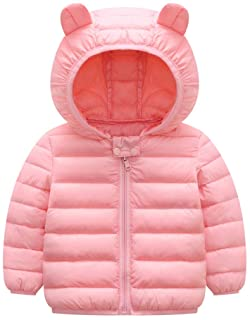 Pollyhb Baby Girls Boys Winter Thick Warm Coat Baby Car Print Hooded Windproof Coat