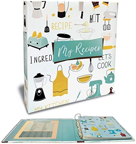 Recipe Binder Full Page 3 Ring Standard Binder Organizer Set with 50 Page Protectors 12 Category product image