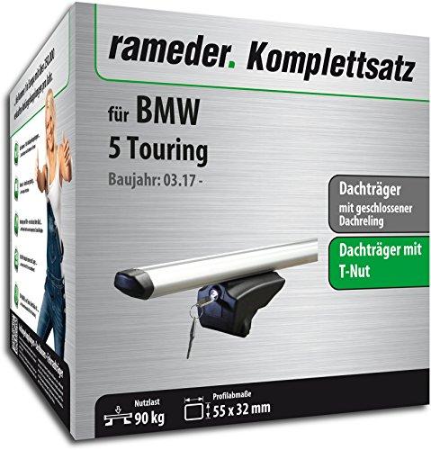 Rameder Set, Dachträger Pick-Up kompatibel für BMW 5 Touring (111287-37535-1)