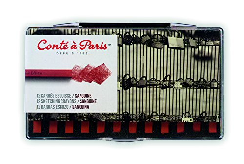 Conté à Paris 12 Count Sketching Crayons Set, Sanguine