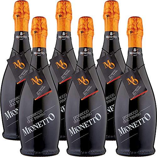 Prosecco Doc Treviso Extra Dry | Mionetto Mo Collection | 6 Bottiglie 75Cl | Bollicine Italiane | Idea Regalo