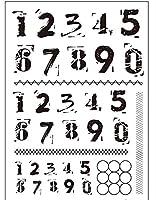 DIYスクラップブッキングフォトアルバム用の番号透明クリアスタンプシール装飾クリアスタンプM1257