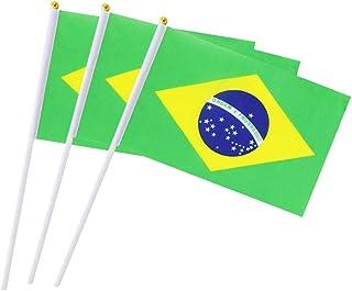 Brasilien-Flagge, brasilianische Flagge, klein, Mini-Flaggen