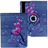 Case for iPad 2nd, 3rd, 4th Generation, Fit Model A1395 A1396 A1397 A1416 A1430 A1403 A1458 A1459 A1460 – Lingsor Smart Cover Case Rotating Stand Support Wake up Sleep, Pink Heart Flower