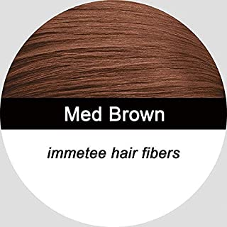 Shreeyas top sell Hair Building Fibers 28g bottle hair thickener fuller hair loss, Dark Brown, black,12 colors 0.97 oz. fibers hair : med brown