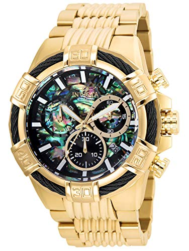 Invicta Men's Bolt Quartz Watch with Stainless Steel Strap, Gold, 30 (Model: 26541)