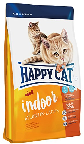 Happy Cat Indoor Adult Atlantik-Lachs, 1er Pack (1 x 4 kg)