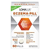 Loma Lux Pill All Natural Skin Clearing Minerals Steroid Free Dermatologist Developed For Children & Adults, Quick Dissolving Pills Eczema Berry, 60 Count