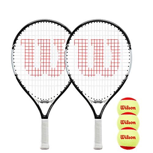 WILSON Federer Junior Tennisschläger Twin Pack & 3 Tennisbälle (19
