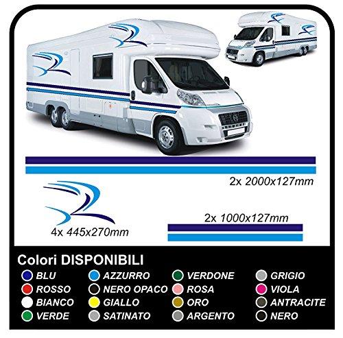 GRAFIC Autocollants Bandes adhésif Vinyle adhésif KIT Graphique de Camper pour Caravane et Camping-Car Vans Graphique 07 (Autre Couleur (Contactez-Nous))