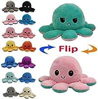 Juting Poupée Mignonne Poulpe Double Face Flip Octopus en Peluche, poupée d'animaux en Peluche réversible Douce...