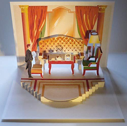 FOREVER Pop Up 3D Karte Einladung Geburtstag Grußkarte Tee Kaffee Privat 16x11cm