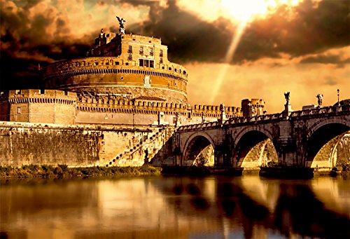 Oedim Cuadro Castillo Sant'Angelo Romano de 95x65cm   5mm de Grosor   8 Modelos Diferentes a Elegir