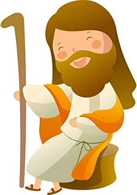 5 Ace Jesus Christ Sitting Smile Sticker Poster|Religious Poster|Christian Poster|Size:12x18 inch,Multicolor